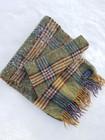 Vintage ruudullinen villahuivi