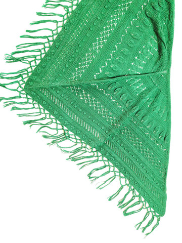 Vintage smaragdinvihreä villahuivi