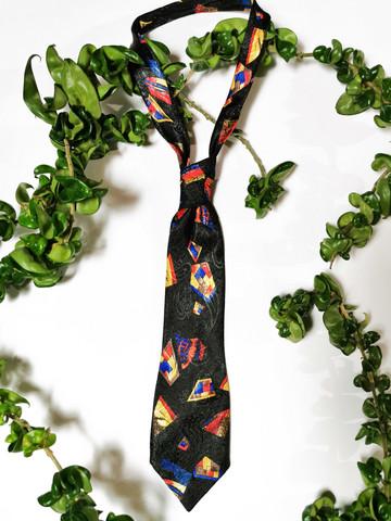 Kotimainen värikäs kravatti 80-90-luvulta