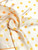 60-luvun oranssinkeltainen pallokuvioinen huivi