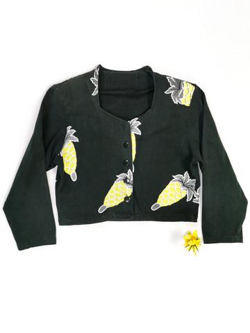 80-luvun olkatopattu ananas trikoobolero, M
