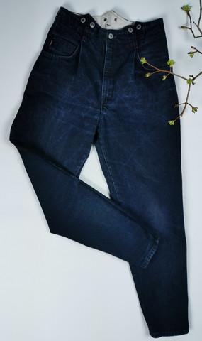 80-luvun kotimaiset hyvin tumman siniset Beawers vintage farkut 30/32