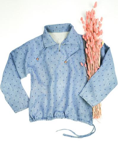 Farkunsininen pellavapaita 90-luvulta, M