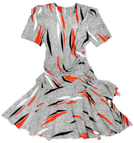 80-luvun Miami-Florida mekko kirahvikuosilla, koko 15/16 eli 42