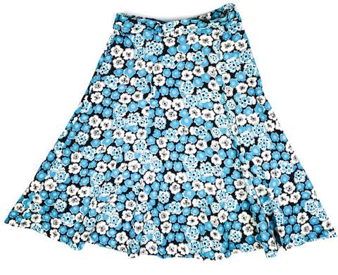 60-luvun sinikukallinen Vinetta -hame, XS