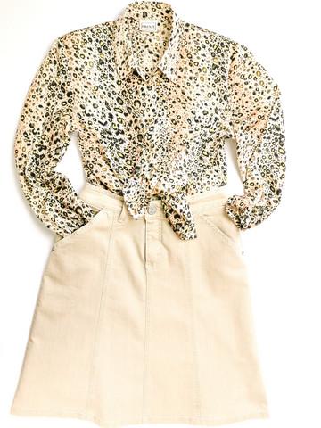 90-luvun gepardikuosinen Firenze-paita, 38