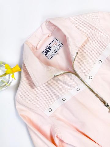 Kotimainen 80-luvun vaaleanpunainen JAP puuvillatakki, XXS