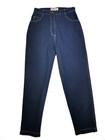 90-luvun siniset pellavasekoite -housut, M
