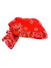 90-luvun punainen jenkkihuivi-päähine