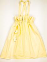 90-luvun keltainen paperipussimekko, puuvillaa, M-L