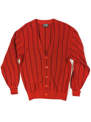 90-luvun alun miesten punainen neuletakki, M