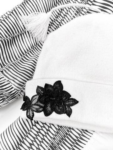 90-luvun kotimainen valkoinen narutupsupipo mustalla pitsillä