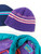 Käsin neulottu violetti villapipo