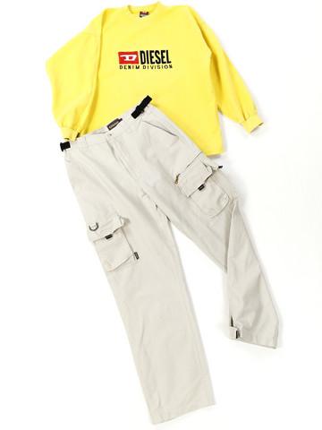90-luvun unisex cargo housut, M