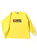 90-luvun keltainen Diesel collegepaita, M-L