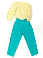 Ruotsalaiset 80-luvun turkoosit housut, S