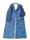 80-luvun sääripituinen oversize farkkutakki, S-XL