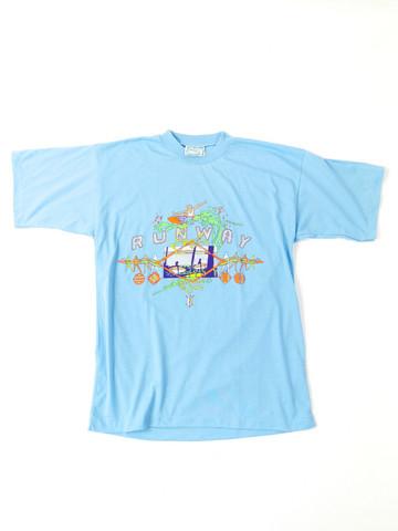 80-90-luvun uudenveroinen surffi T-paita, XL