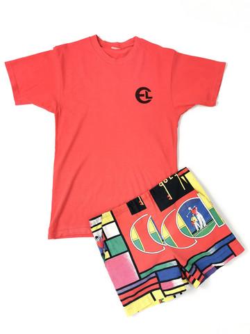 70-luvun punainen T-paita, XS-S