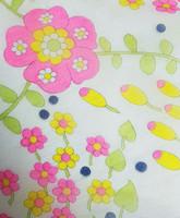 60-70-luvun pirteä kukkahuivi