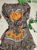 60-70-luvun värikäs huivi