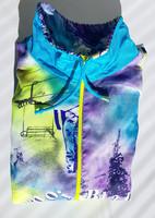 80-90-luvun lasketteluaiheinen tuulipuvun takki,  M-XL