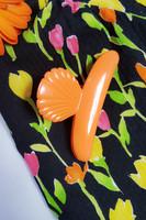 90-luvun neonvärinen kukkajakku, Sataneule Oy, M-L