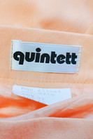 Vintage persikan värinen viskoosihame, Quintett, S