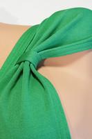 70-luvun vihreä bikiniyläosa, M