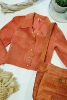 60-70-luvun lyhyt mokkanahkatakki, 34