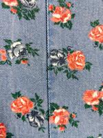 90-luvun kotimainen ruusufarkkutakki, 38-40