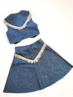 60-70-luvun farkkuhame ja liivi, M-L