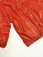 80-90-luvun kotimainen punainen nahkatakki, S-XL