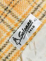 Vintage kotimainen skottiruutuinen villapuku, 38-40