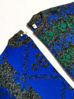 70-80-luvun vihreä-sininen neulepusero, S-L