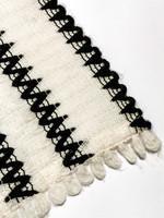 Vintage mustavalkoinen jättihuivi