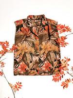 Vintage viidakkokuvioinen viskoosipusero, L-XL
