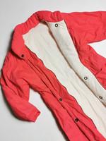 80-90-luvun flamingonpunainen buffer-toppatakki, S-L