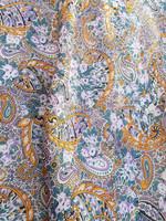 Vintage paisleykuvioinen ohut villahuivi