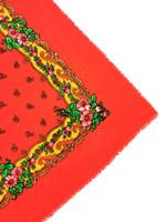 Villainen jättihuivi ruusuilla ja paisleykuviolla
