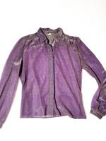 Vintage kimaltava läpikuultava lurex-pusero, M-L