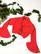 90-luvun crop pikkujoulupusero salsahihoilla,S-M