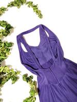 80-90-luvun violetti kellohelmainen juhlamekko, 34-36