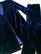 90-luvun tummansininen veloursamettipuku, M-L