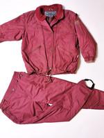 90-luvun viininpunainen hiihtopuku, L-XL