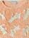 Persikan värinen neule helmillä ja aplikoinneilla, S-XL