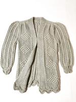Vintage puhvihihainen pitkä neuletakki mohairia, S-L