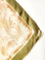Vintage silkkihuivi rusettikuviolla