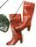 Kotimaiset punaruskeat nahkasaappaat, 38,5