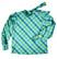 70-luvun puhvihihainen ruutupusero rusetilla, S-M